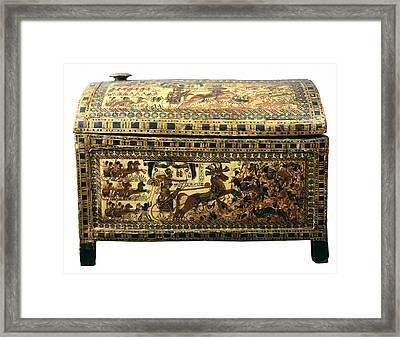 Painted Chest Depicting A King Framed Print by Everett