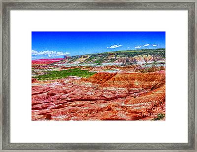 Painted Desert National Park Panorama Framed Print by Bob and Nadine Johnston