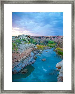 Painted River Gorge Framed Print by Sarah Crites