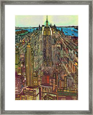 New York Mid Manhattan 1971 Framed Print