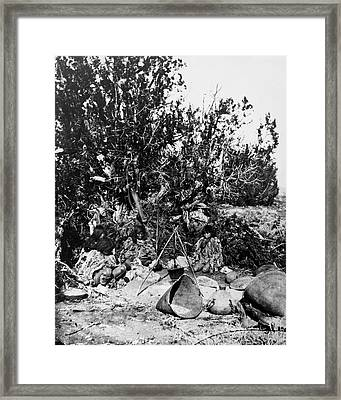Paiute Camp, C1873 Framed Print by Granger