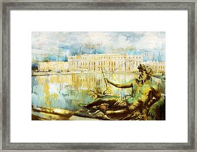 Palace And Park Of Versailles Framed Print by Catf