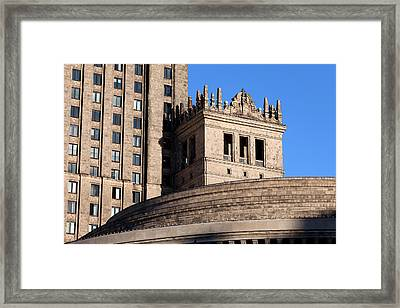 Palace Of Culture And Science In Warsaw Framed Print by Artur Bogacki