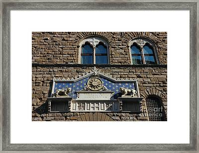 Palazzo Vecchio In Florence Framed Print by Kiril Stanchev
