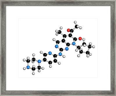 Palbociclib Breast Cancer Drug Molecule Framed Print