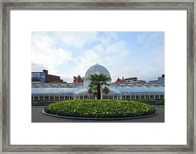 Palm House In The Botanic Framed Print