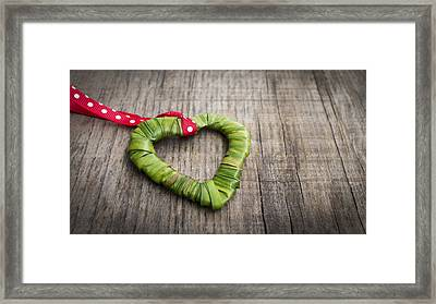 Palm Leaf Heart Framed Print