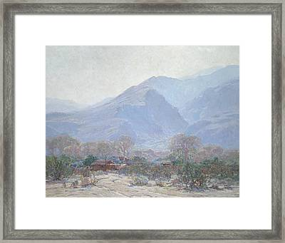 Palm Springs Landscape With Shack Framed Print