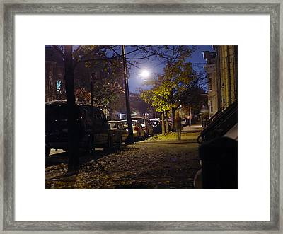 Palmetto St. In Ridgewood Queens Nyc Framed Print by Mieczyslaw Rudek