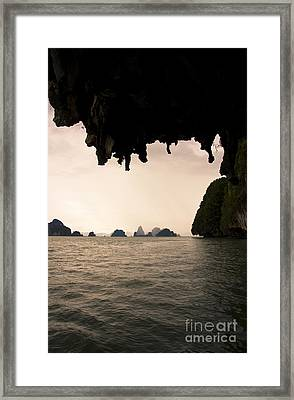 Panak Island Caves Framed Print by Jorgo Photography - Wall Art Gallery