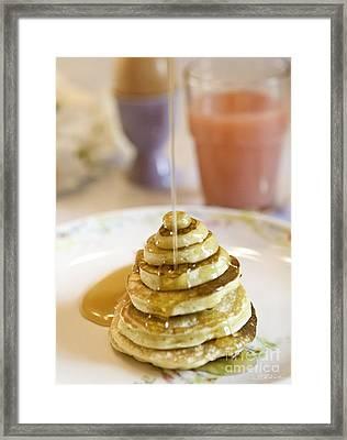 Pancake Piramid Framed Print by Iris Richardson