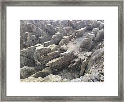 Pancake Rocks Framed Print by Ron Torborg