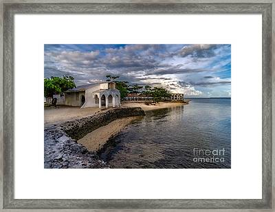 Pandanon Island Chapel Framed Print by Adrian Evans