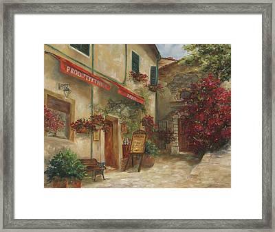 Panini Cafe' Framed Print