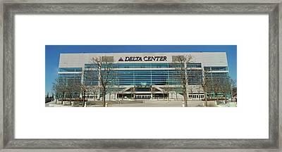 Panoramic Of Delta Center Building Framed Print