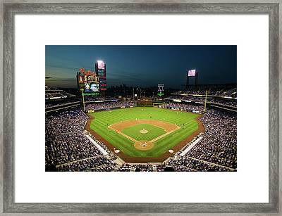 Panoramic View Of 29,183 Baseball Fans Framed Print