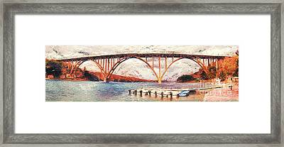 Panoramic View Of Bridge In Cuba Framed Print by Odon Czintos