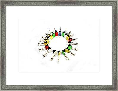 Paper Clips, Close Up Framed Print by Visage