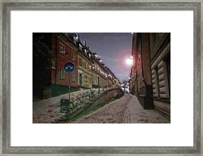 Paper Route Framed Print
