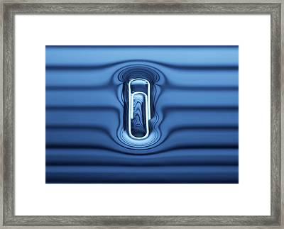 Paperclip Floating On Water Surface Framed Print by Science Photo Library