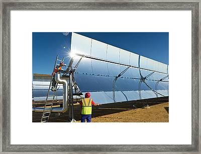 Parabolic Trough Solar Power Plant Framed Print by Philippe Psaila