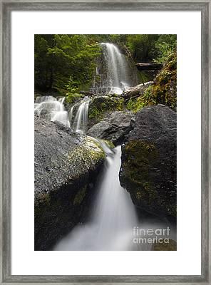 Paradise Falls Framed Print by Mike  Dawson
