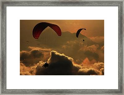 Paragliding Framed Print