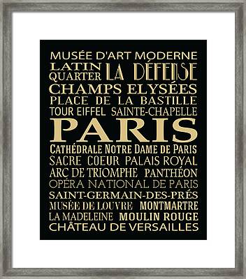 Paris Attractions Framed Print by Jaime Friedman