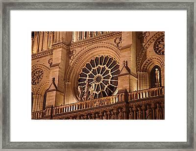 Paris France - Notre Dame De Paris - 01134 Framed Print by DC Photographer