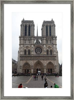 Paris France - Notre Dame De Paris - 01135 Framed Print