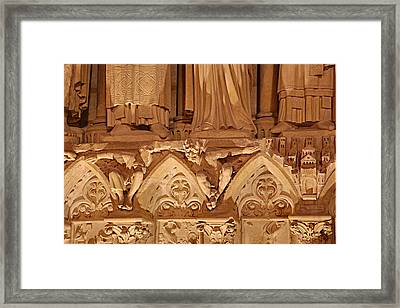 Paris France - Notre Dame De Paris - 01137 Framed Print by DC Photographer