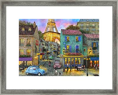 Paris Streets Framed Print by Dominic Davison