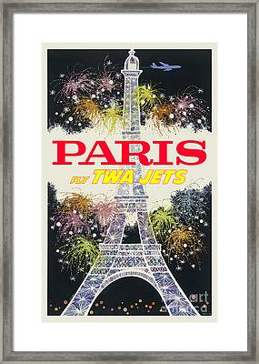 Paris Vintage Travel Poster Framed Print