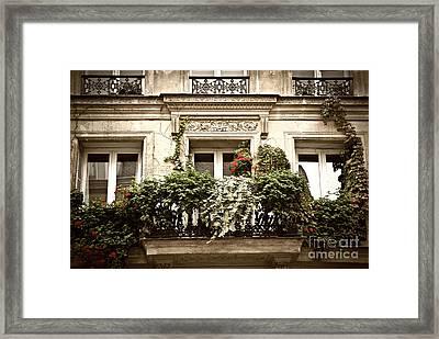 Paris Windows Framed Print by Elena Elisseeva