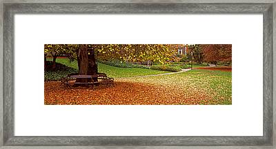 Park At Banks Of The Avon River Framed Print by Panoramic Images