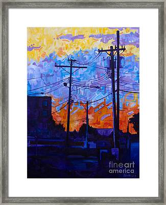 Parking Lot Sunset Framed Print by Michael Ciccotello