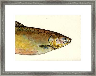 1 Part Chinook King Salmon Framed Print by Juan  Bosco