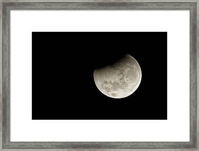 Partial Lunar Eclipse Framed Print