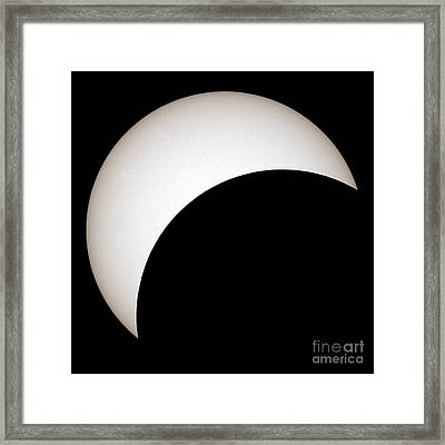 Partial Solar Eclipse Framed Print by Laurent Laveder