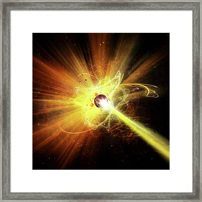 Particle Collision Framed Print by Harald Ritsch