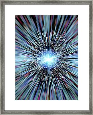 Particle Rays Framed Print by Alfred Pasieka