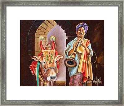 Framed Print featuring the painting Partners In Alms by Ragunath Venkatraman
