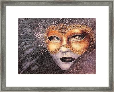 Party Face Framed Print