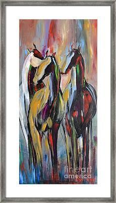 Party Of Three Framed Print by Cher Devereaux