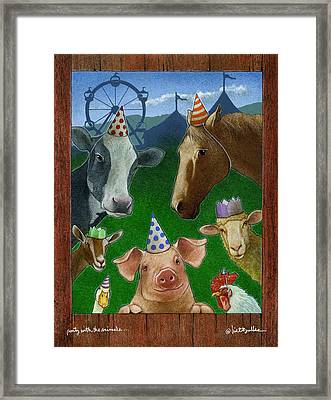 Party With The Animals... Framed Print