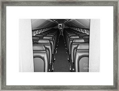 passenger cabin of the British Airways Concorde  Framed Print by Joe Fox