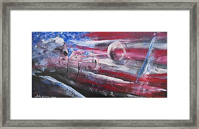 Framed Print featuring the painting Passionate Sound by John  Svenson