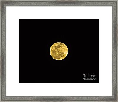 Passover Full Moon Framed Print