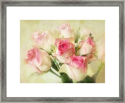 Pastel Roses Framed Print by Jessica Jenney