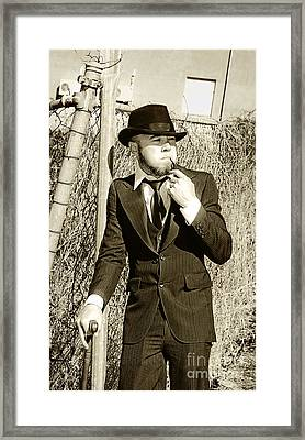 Pastime Pipe Smoker Framed Print by Jorgo Photography - Wall Art Gallery